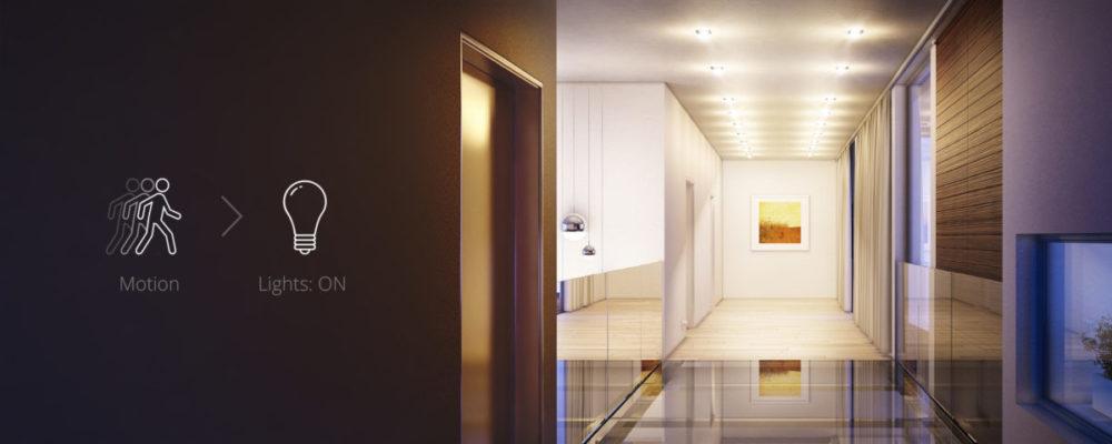 Zdalne sterowanie światłem z wykorzystaniem takich urządzeń jak czujnik ruchu Fibaro Motion Sensor – Senso Smart Home