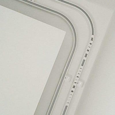 Szyny sufitowe, aluminiowe szyny sufitowe, gięte szyny sufitowe